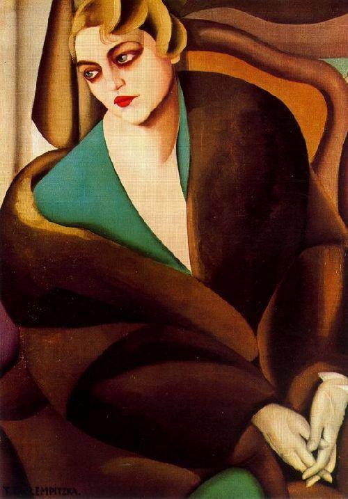 Portrait of Baroness Renata Treves, 1925, Tamara de Lempicka